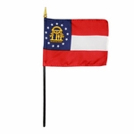 Handheld Georgia State Flags