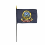 Handheld Idaho State Flags