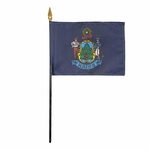 Handheld Maine State Flags