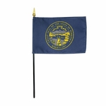Handheld Nebraska State Flags