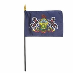 Handheld Pennsylvania State Flags