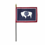 Handheld Wyoming State Flags