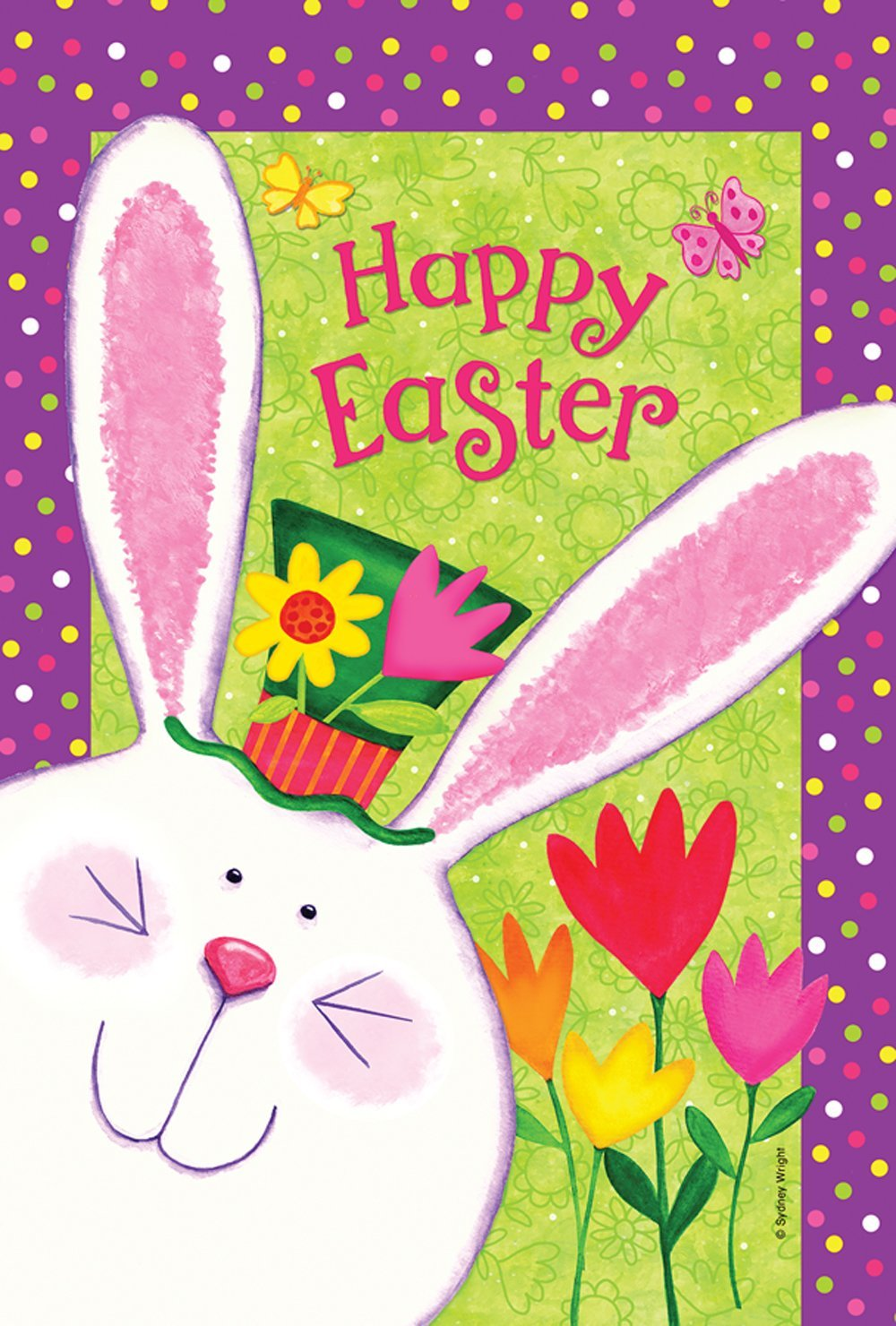 Happy Easter Garden Flag 28 Images Evergreen