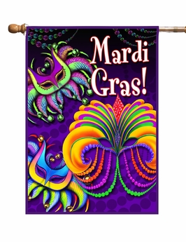 Happy Mardi Gras Garden Flag