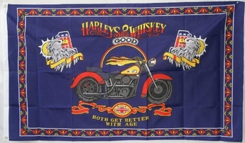 Harleys and Whiskey Flag