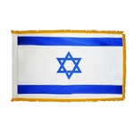 Indoor Fringed & Unfringed Israel Flags
