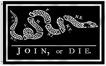 Join Or Die Flag (Black)