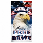 Land of Free Home of the Brave Beach Towel