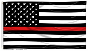 Lightweight Printed Thin Red Line US Flag