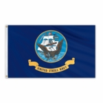 Military-Grade Nylon Navy Flags