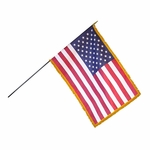 Deluxe Mounted Fringed US Flag