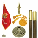 Mounted Marine Corps Flag Sets
