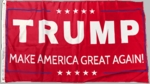 Red Donald Trump Make America Great Again Flag