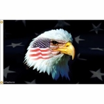 Patriotic American Eagle Flag