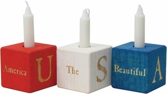 Patriotic Candle Blocks