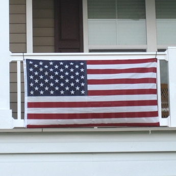 Polycotton Mounted Balcony US Flag Kit