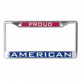 Proud American Inlaid Metal License Plate Frame