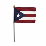 "4"" X 6"" Puerto Rico Stick Flags"