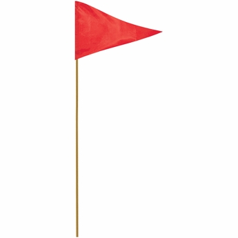 """Red 12"""" X 18"""" Mounted Pennant Flag"""