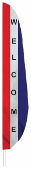 Red, White & Blue Welcome Feather Flag
