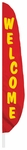 Red/Yellow Welcome Feather Flag