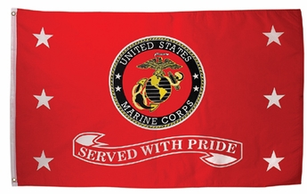 Served with Pride Marines Flag