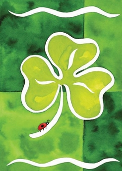Shamrock and Friend Garden Flag