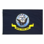 Economy Printed Navy Flags