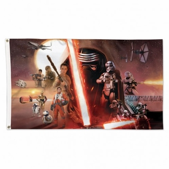 Star Wars / New Trilogy Force Awakens Deluxe Collage Flag