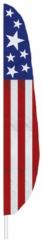 Stars & Stripes Feather Flag