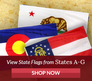 State Flags - States beginning with letter A Through G