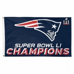 Super Bowl Champions New England Patriots Deluxe Flag