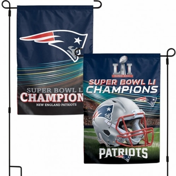 Super Bowl Champions New England Patriots Garden Flag