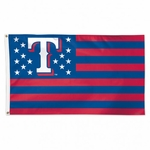Texas Rangers Stars and Stripes Flag