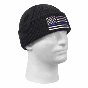 Thin Blue Line Deluxe Embroidered Watch Cap