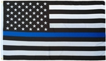 Lightweight Printed Thin Blue Line US Flag
