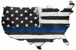 Thin Blue Line USA Metal Sign