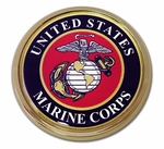 USMC Seal Chrome Auto Emblem