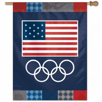 USOC Rings Vertical Flag