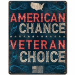 Veteran By Choice Vintage Metal Sign