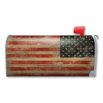 Vintage American Flag Mailbox Cover