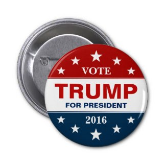 Vote Donald Trump Campaign Button
