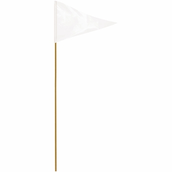 "White 12"" X 18"" Mounted Pennant Flag"