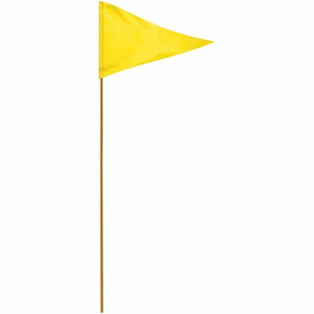 "Yellow 12"" X 18"" Mounted Pennant Flag"