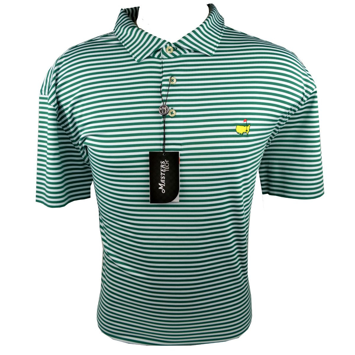 Masters Performance Polo Golf Shirt Green And White