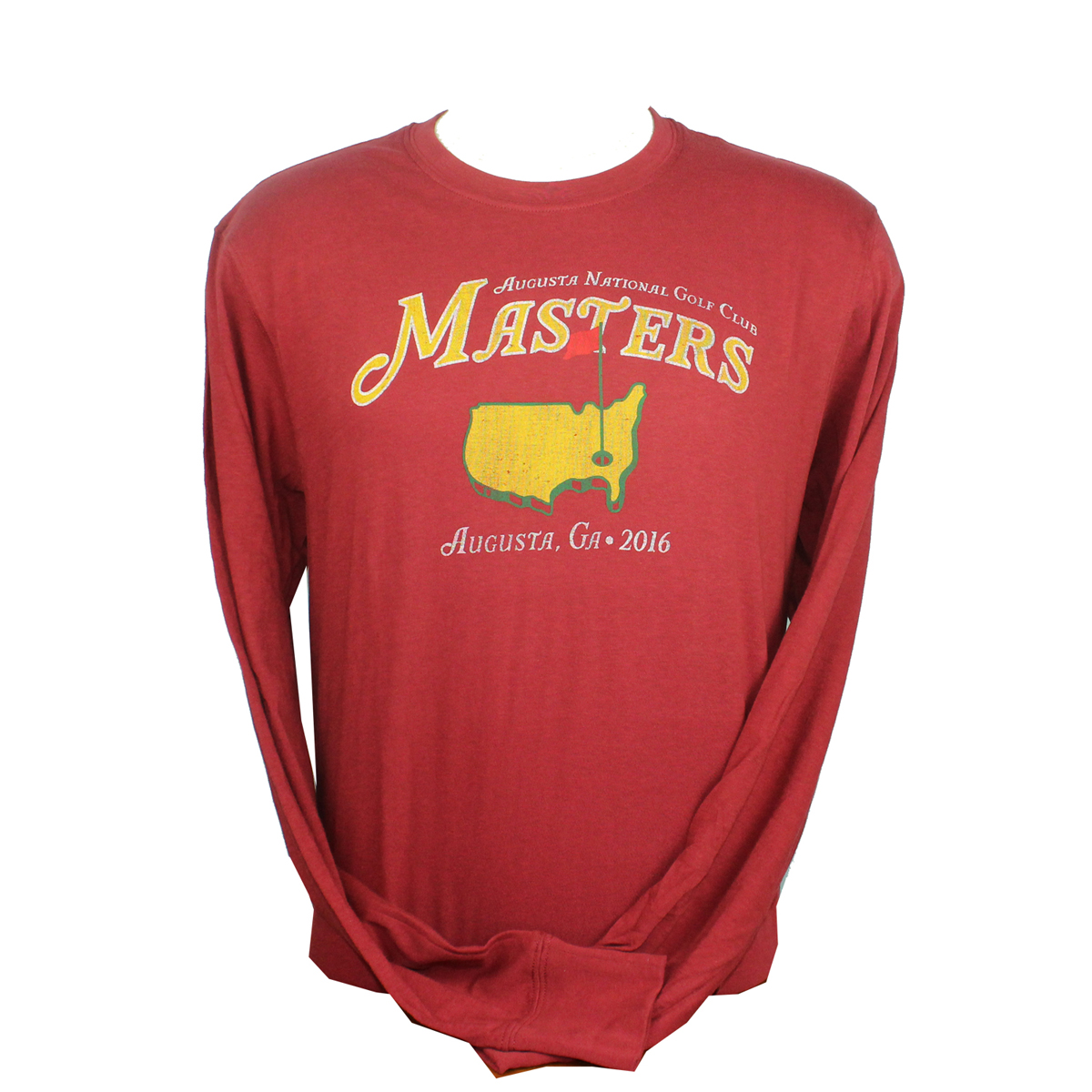 Masters vintage red long sleeve t shirt masters sweaters for Retro long sleeve t shirts