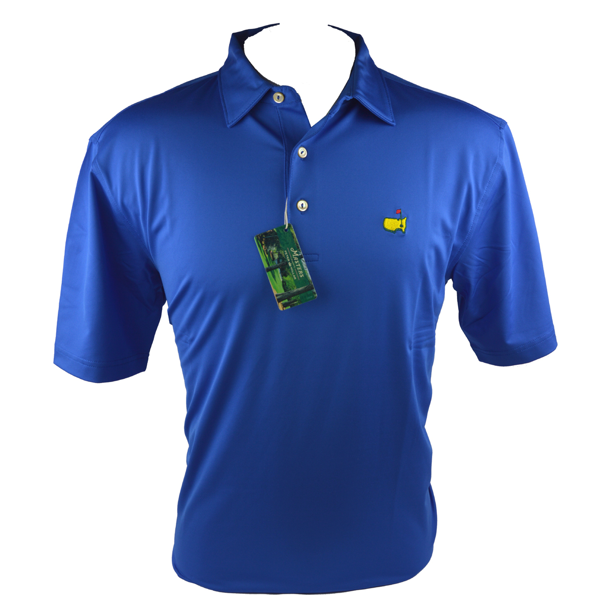 peter millar masters performance golf shirt royal blue