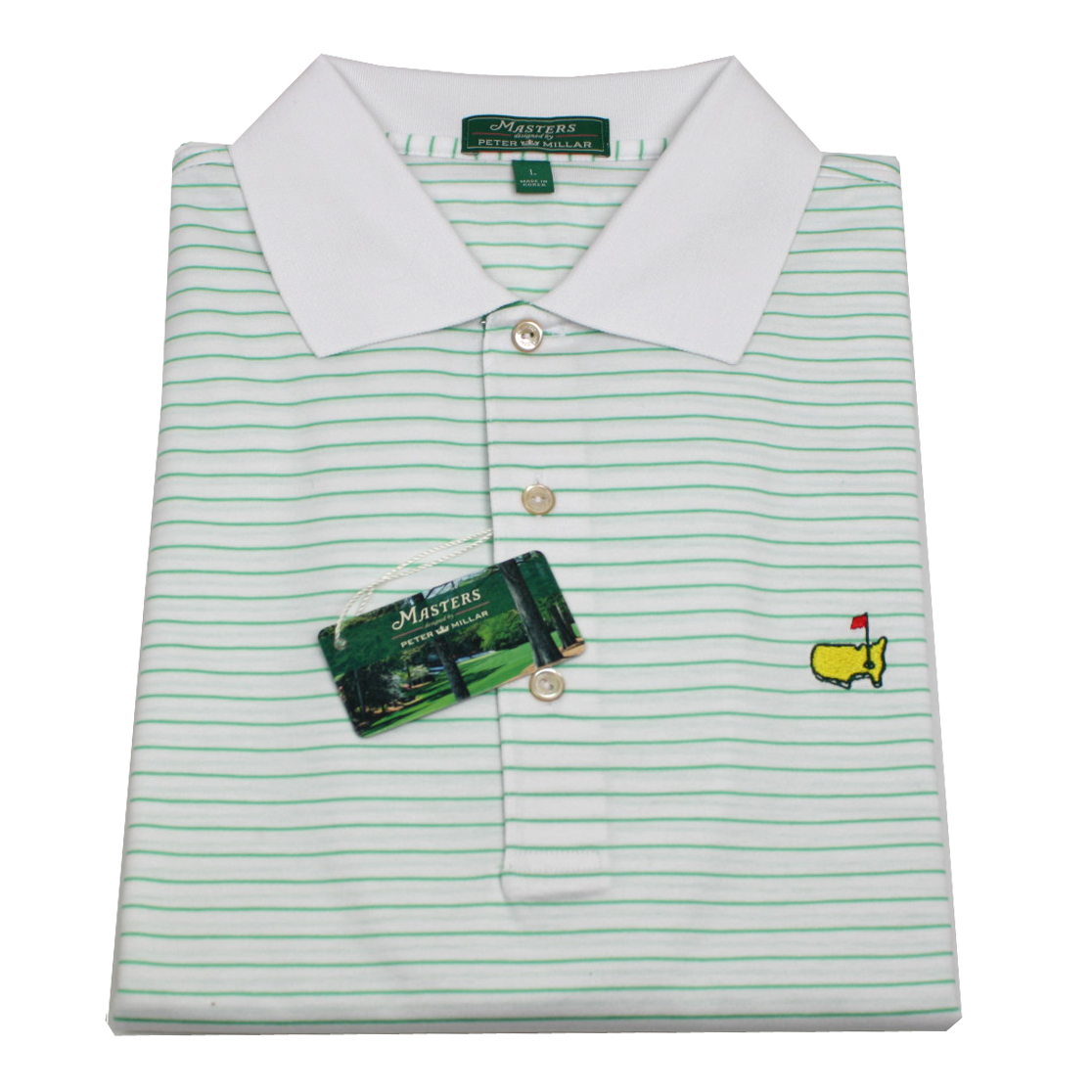 Peter Millar White With Lt Green New 2014 Masters Golf