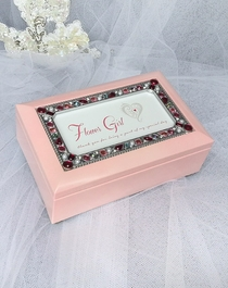 Jeweled Pink Music Box