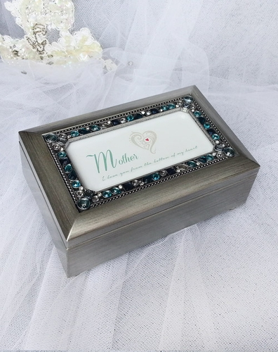 Jeweled Silver Music Box